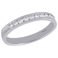 14K White Gold Channel Set Diamond Wedding Band Ladies Anniversary Ring 0.25 Ct