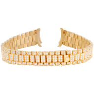 Ladies 18K Yellow Gold President Diamond Watch Band for Rolex DateJust 4.83 CT.