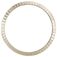 Original Factory 18K White Gold Fluted Rolex Bezel For 26mm DateJust / President