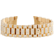 Mens 18K Yellow Gold Diamond Watch Band for Rolex Day-Date President 8.90 CT.