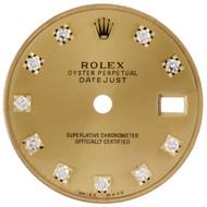 OEM / Factory Original Rolex DateJust President 26mm Champagne Diamond Dial