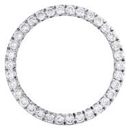 Genuine Round Diamond 15 Point Prong Set Bezel For 41mm Rolex DateJust II 5.1 CT