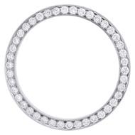 Real Diamond 3 pts. Bead Set Bezel For 31mm Midsize Rolex DateJust Watch 1.26 CT