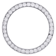 Real Diamond 5 pts. Bead Set Bezel For 31mm Midsize Rolex DateJust Watch 1.70 CT