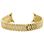 Ladies 18K Yellow Gold Diamond Watch Band for Rolex DateJust President 2.22 CT.