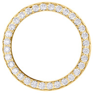 14K Yellow Gold Bead Set Diamond Bezel For 26mm Rolex DateJust Watch 1.35 CT.