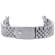 Mens Custom Diamond Jubilee Watch Band to Fit 36mm Rolex DateJust Case 5 CT.