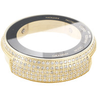 Grammy Edition Diamond I-Gucci Watch Casing YA114215 Black / Gold 2.50 Ct.