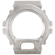 Casio Mens Real White Diamond Custom Watch Case For G-Shock Model DW6900 3 CT.