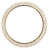 Custom Diamond Watch Bezel Fits Rolex DateJust 41 / Day-Date 40 Honeycomb 4 CT.