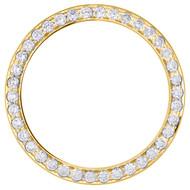 14K Yellow Gold Rolex DateJust 36 Bead Set Diamond Bezel Fits 36mm Watch 2.66 CT