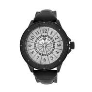 Men's Ice Mania IM3065 Genuine Diamond 24-Hour Dial Black PVD Watch 0.08 CT.