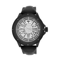 Men's Ice Mania IM3080 Genuine Diamond Arabic Number Black PVD Watch 0.08 CT.