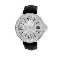 Men's Ice Mania IM3081 Genuine Diamond Illusion Dial Black Marker Watch 0.08 CT.