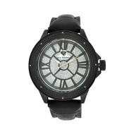 Men's Ice Mania IM3083 Genuine Diamond Illusion Dial Black PVD Watch 0.08 CT.