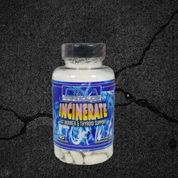 DNA Anabolics, Incinerate. Fat Burner & Thyroid Support 90 Caps.