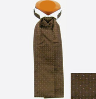 Formal 100% Woven Silk Ascot - Brown Tone