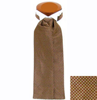 Formal 100% Woven Silk Ascot - Rust Tone