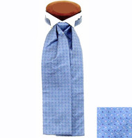 Formal 100% Woven Silk Ascot - Light Blue Tones