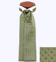 Formal 100% Woven Silk Ascot - Olive Tone