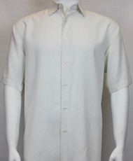 Sangi Modal Blend Short Sleeve Camp Shirt - Off-White