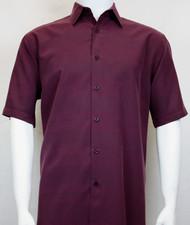 Sangi Modal Blend Short Sleeve Camp Shirt - Muted Vertical Stripe