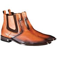 Vestigium Genuine Faded Tone Shark & Calf Ankle Dress Boot