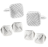 Formal Square Design Cufflinks & Formal Studs