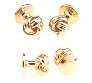 4 Gold Love Knot Formal Studs