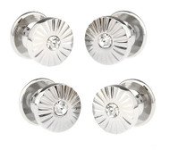 4 Crystal Round Formal Studs
