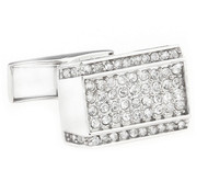 Clear Diamond Crystal Cufflinks (V-CF-C51317C-S)