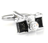 Crystal Old Fashion Camera Cufflinks (V-CF-C491)