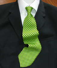 Emilio Romano 100% Silk Italian-made Necktie - Diamonds on Green