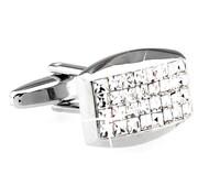 Diamond Princess Baguettes Swarovski® Crystal Cufflinks (V-CF-C60091C)