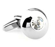 Small Round Diamond Crystal Cufflinks (V-CF-61308C-S)