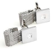 Wrap-Around Cuff Design with a Swarovski® Crystal Cufflinks (V-CF-C709)
