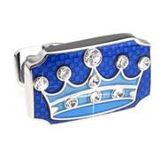 Blue Prince Crown Swarovski® Crystal Cufflinks (V-CF-C809BL)