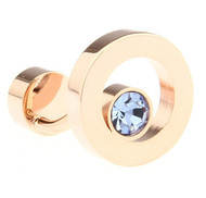 Blue Swarovski® Crystal Circle Rose Gold Cufflinks (V-CF-C68361BL-RG)