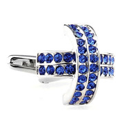 Royal Blue Czech Crystal Cufflinks (V-CF-61610BL)