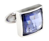 Multi-Faceted Purple Swarovski® Crystal Cufflinks (V-CF-C7689PR-S)