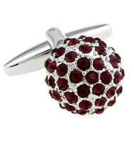 Purple Swarovski® Crystal Encrusted Small Ball Cufflinks (V-CF-C624PR)