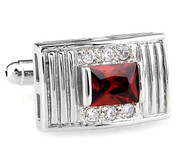 Red Princess Cut Swarovski® Crystal Cufflinks (V-CF-C64194R-S)