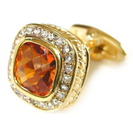 Large Amber-Colored Swarovski® Crystal Cufflinks (V-CF-80000G-G)