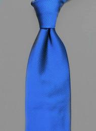 Antonio Ricci Solid Color Tonal Rib Weave Tie - Royal Blue