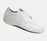 Belvedere Genuine Ostrich Leg and Calf Leather Sneaker