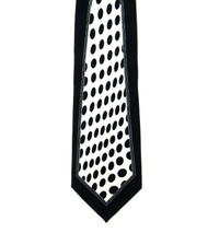 Antonio Ricci 100% Printed Silk Tie - Black Panel with Black Dots
