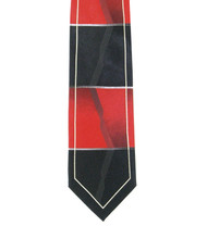 Antonio Ricci 100% Printed Silk Tie - Red Block Design