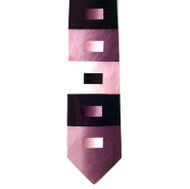 Antonio Ricci 100% Printed Silk Tie - Contrasting Pink & Purple Rectangles