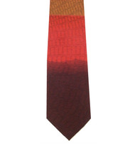 Antonio Ricci 100% Printed Silk Tie - Tonal Red