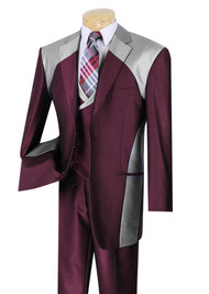Maroon and Silver